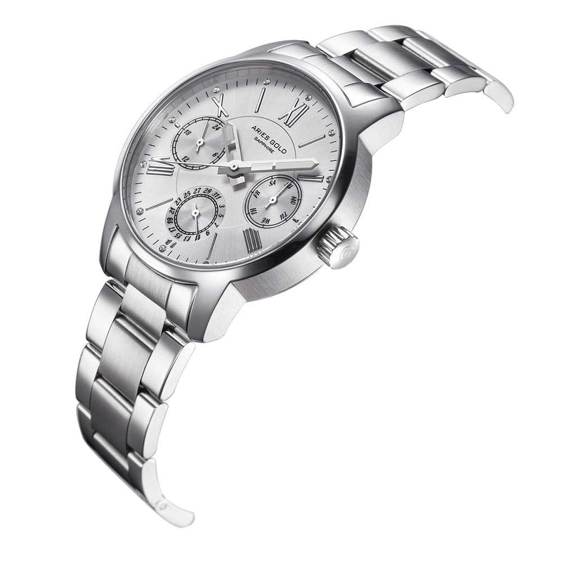 ARIES GOLD URBAN ETERNAL SILVER STAINLESS STEEL L 103 S-S WOMEN'S WATCH