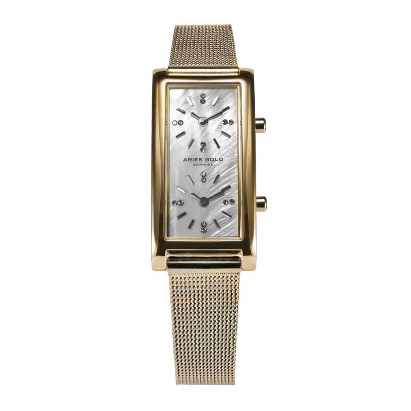ARIES GOLD ENCHANT GEMINI L 136 G-MOP WOMEN'S WATCH