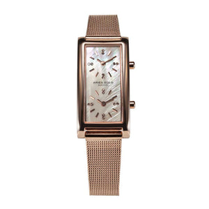 ARIES GOLD ENCHANT GEMINI L 136 RG-MOP WOMEN'S WATCH
