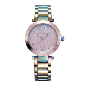 ARIES GOLD ENCHANT RAINBOW STAINLESS STEEL L 5011 RB-PKMOP WOMEN'S WATCH