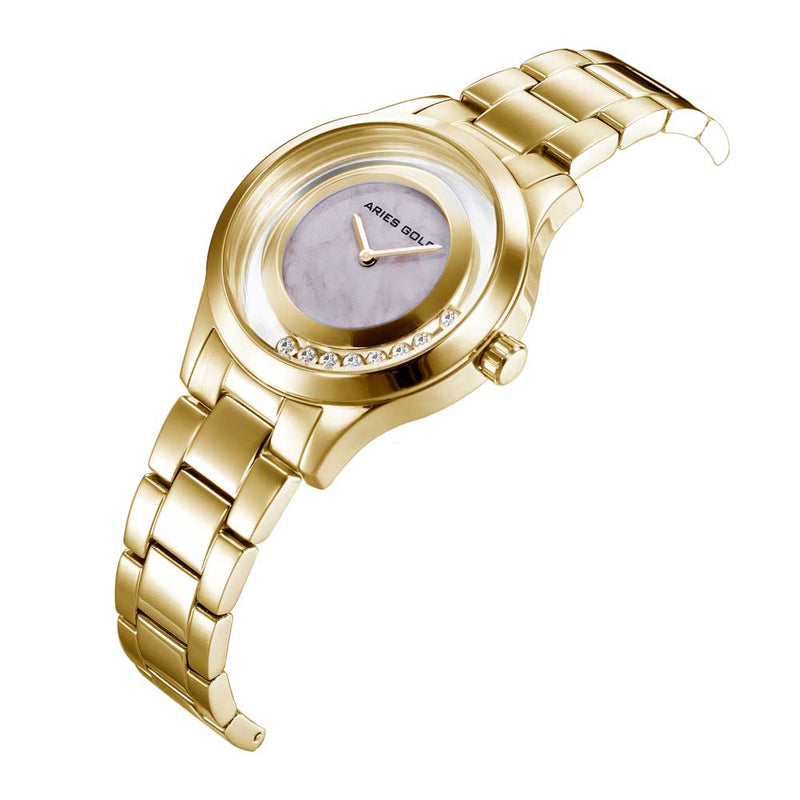 ARIES GOLD ENCHANT VERONA GOLD STAINLESS STEEL L 5021 G-MB WOMEN'S WATCH