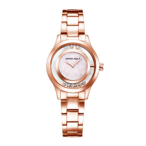 ARIES GOLD ENCHANT VERONA ROSE GOLD STAINLESS STEEL L 5021 RG-MB WOMEN'S WATCH