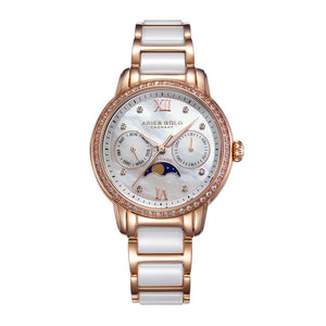 ARIES GOLD ENCHANT LUNA L 58010L RG-MP WOMEN'S WATCH
