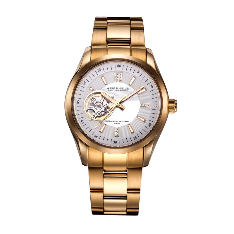ARIES GOLD AUTOMATIC INSPIRA GOLD STAINLESS STEEL L 9003 G-WMOP WOMEN'S WATCH