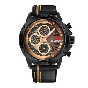 NAVIFORCE NF9110-B-RG-BN MEN'S CHRONOGRAPH WATCH