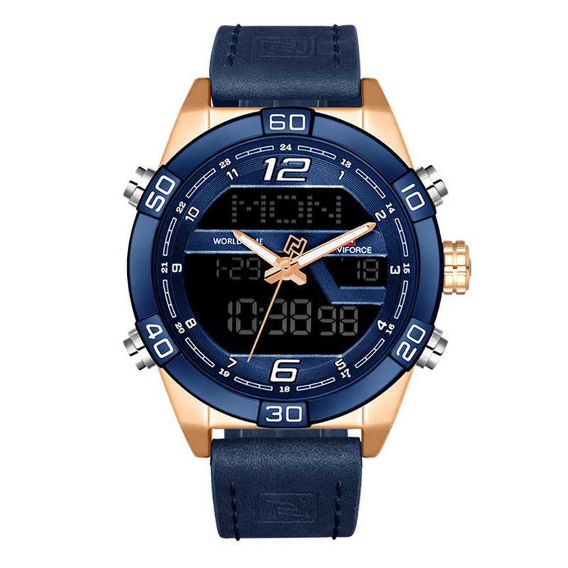 NAVIFORCE NF9128 RG/BE/BE MEN'S ANALOG/DIGITAL WATCH