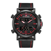 NAVIFORCE NF9135 B/R/B MEN'S DIGITAL CASUAL WATCH