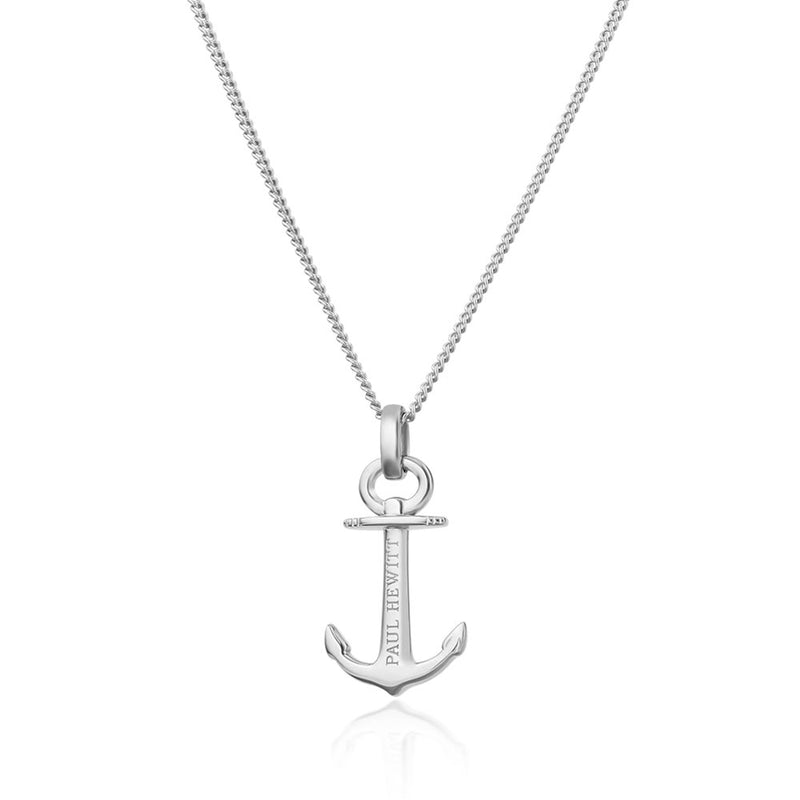 PAUL HEWITT ACCESSORY NECKLACE ANCHOR SPIRIT PLATED SILVER