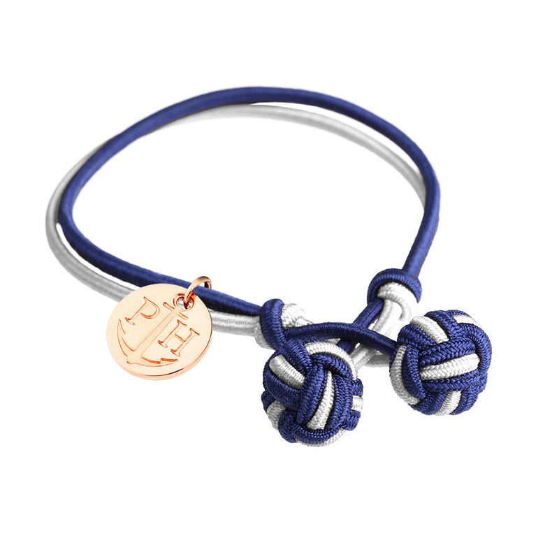 PAUL HEWITT ACCESSORY BRACELET KNOT NYLON NAVY BLUE-WHITE