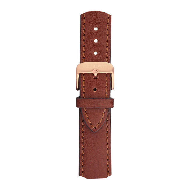 PAUL HEWITT ACCESSORY WATCH STRAP IP ROSE GOLD LEATHER BROWN