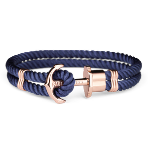 PAUL HEWITT ACCESSORY PHREP IP ROSE GOLD NYLON NAVY