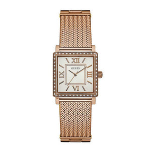GUESS ROSE GOLD STAINLESS STEEL W0826L3 MESH STRAP WOMEN'S WATCH