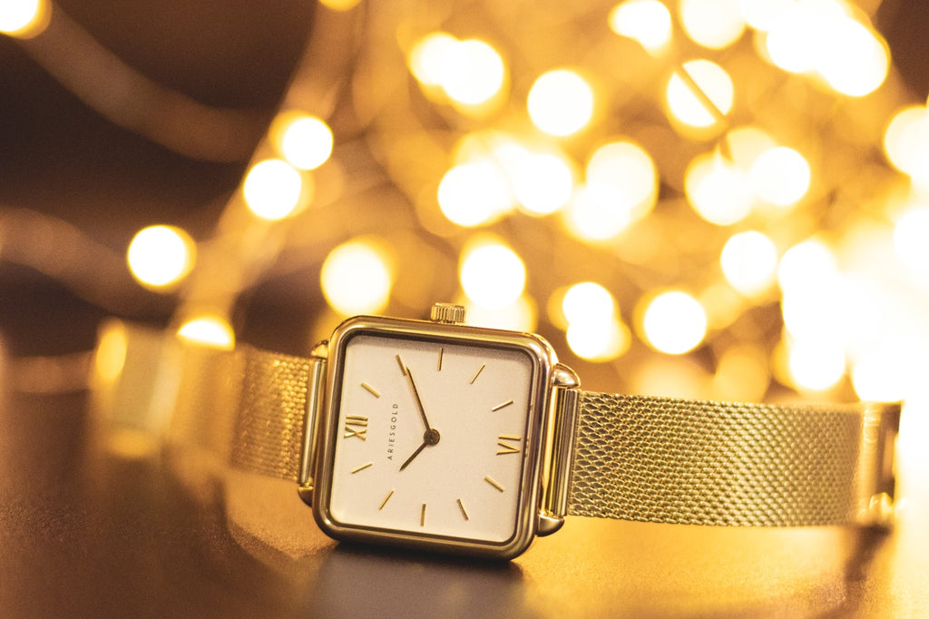 ARIES GOLD MINUIT GOLD L 5038 G-W WOMEN WATCH
