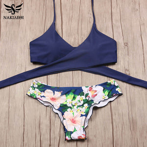 Cross Brazilian Push Up Bikini Set