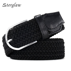 110cm Russia fashion Casual stretch woven belt Women's unisex Canvas elastic belts for women jeans elastique Modeling belt  F142