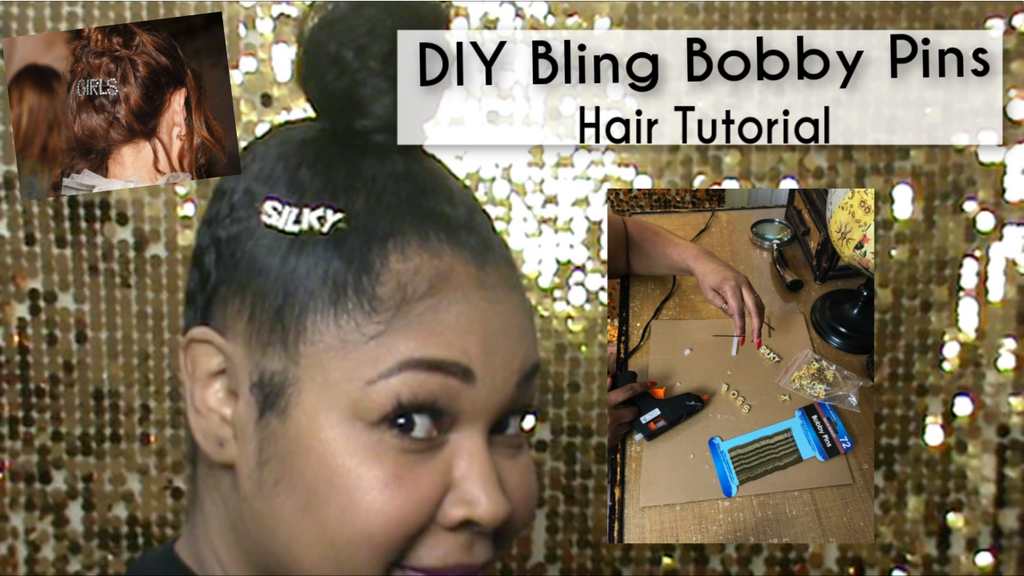 DIY Bling Bobby Pins Hair Tutorial