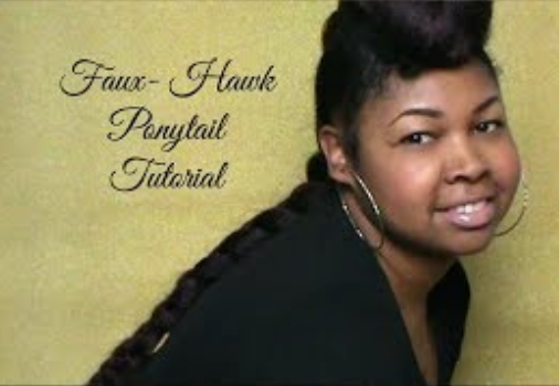 Faux Hawk Ponytail Hair Tutorial