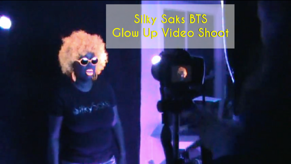 Silky Saks (BTS) Glow Up Video Shoot