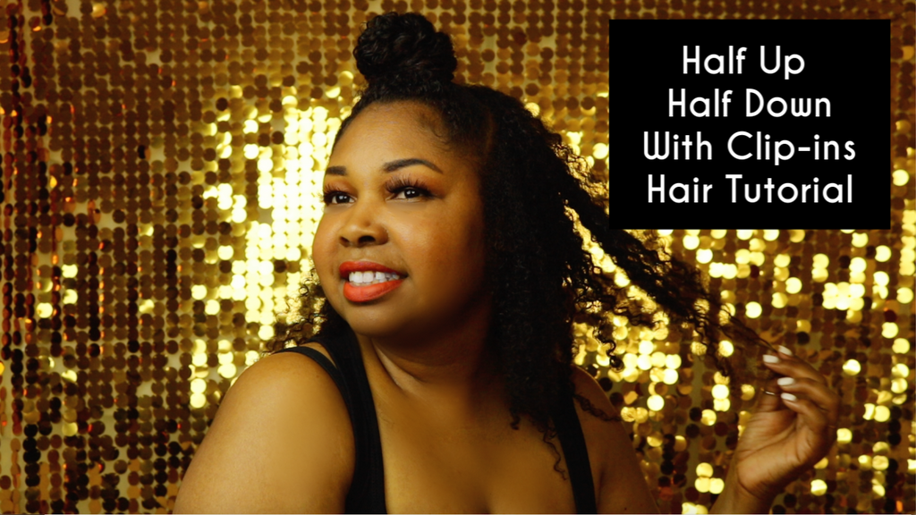 Half Up Half Down With Clip-ins Hair Tutorial