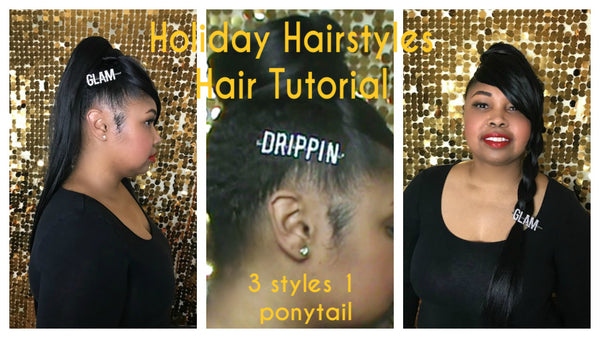Holiday Hairstyles Hair Tutorial (1 Ponytail 3 Styles)