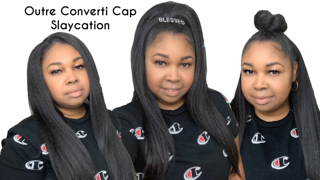 VERSATILE TEXTURED HALF WIG|Outre Slaycation Wig Review