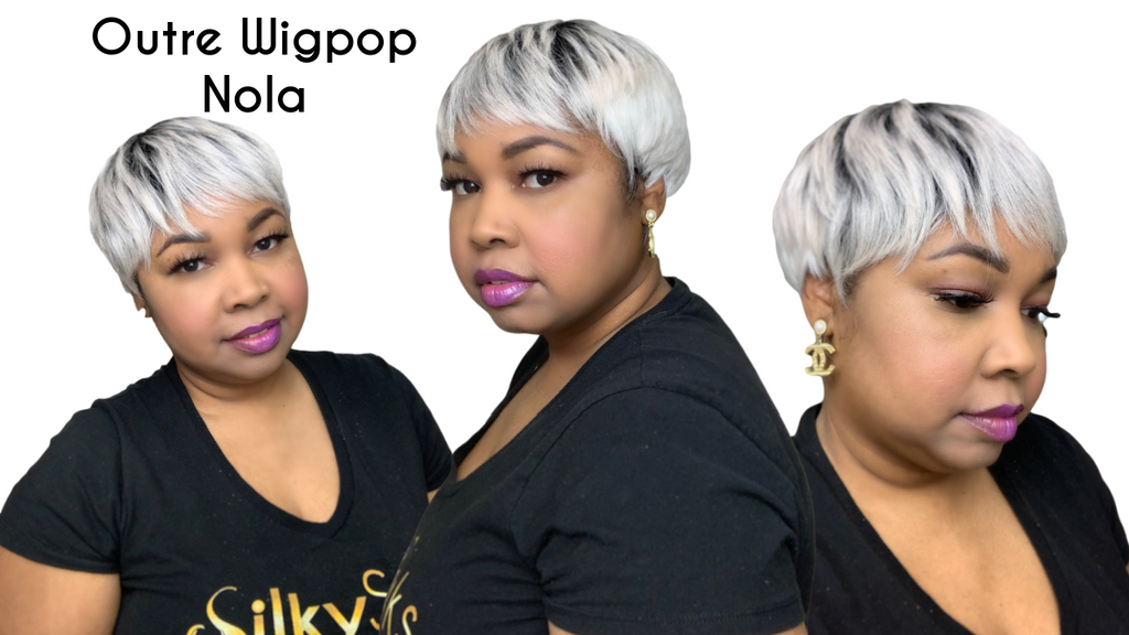 SILVER PIXIE CUT| Outre Wigpop Wig Review