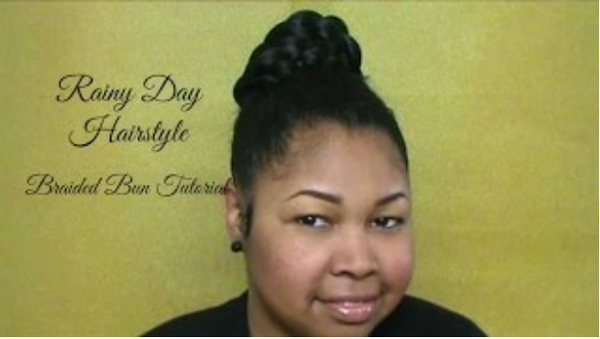 Rainy Day Hairstyle: Braided Bun Tutorial