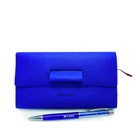 Amity Diary with Sparkle Pen Blue
