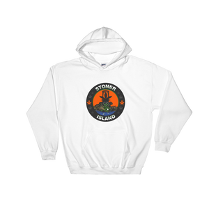 Orange Leaf Centered Logo Hooded Sweatshirt