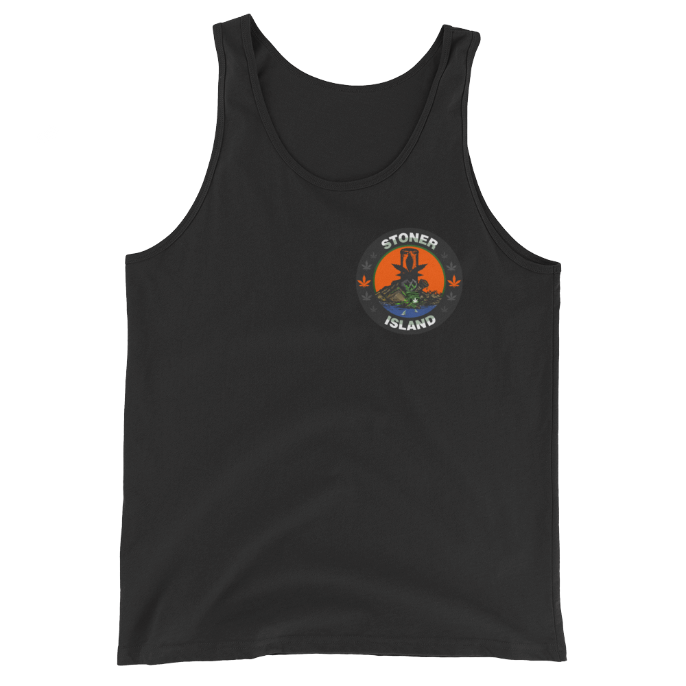 Orange Leaf Unisex Tank Top