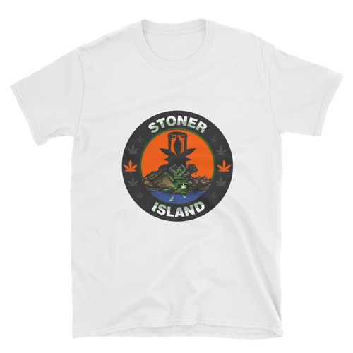 Orange Leaf Centered Logo Short-Sleeve Unisex T-Shirt