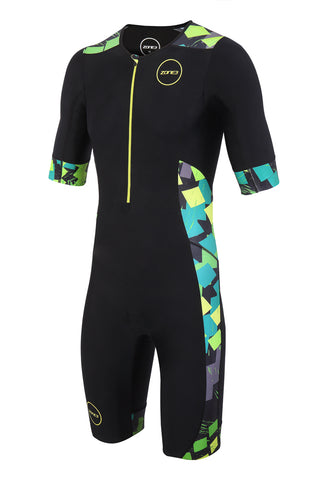 MEN'S ACTIVATE PLUS SHORT SLEEVE TRISUIT - ELECTRIC SPRINT