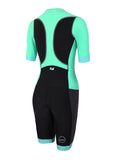WOMEN'S AQUAFLO PLUS SHORT SLEEVE - BLACK/MINT