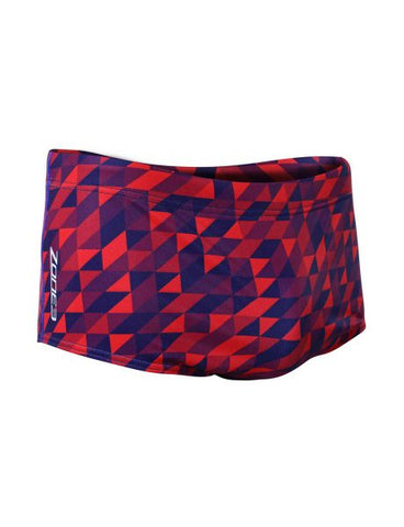 Men's Prism Brief Shorts - Navy/Red