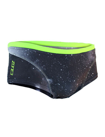 Men's Cosmic Brief Shorts - Grey/Fluro Yellow