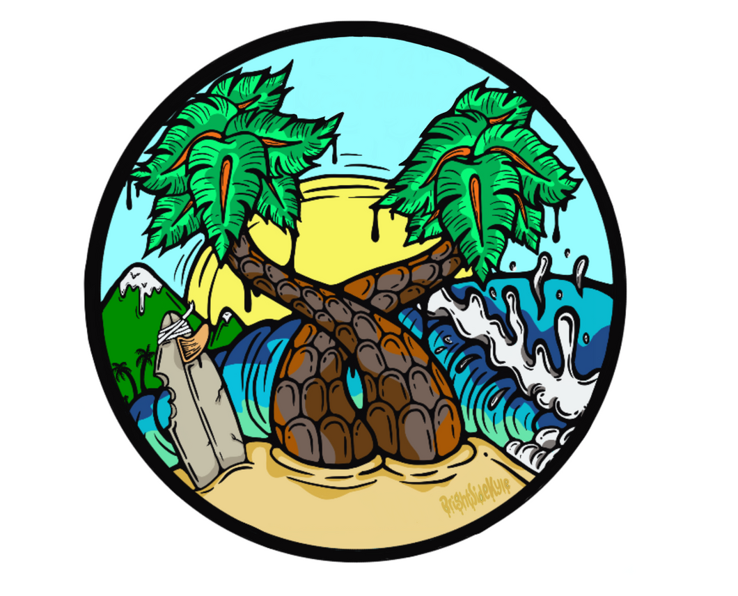 Wall Decals: Palm Tree Island