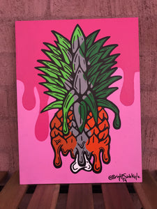 Original: Pineapple Split on Canvas board
