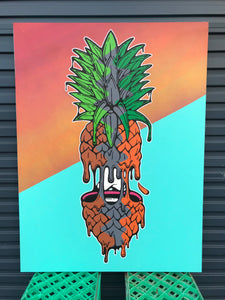 Original: Split Pineapple on Canvas