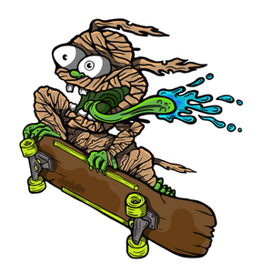 Wall Art Decal - Lil' Monster Skater