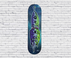 Original: Space ship Galaxy - skateboard art