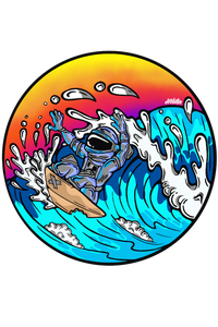 Wall Art Decal - Astro Surfer
