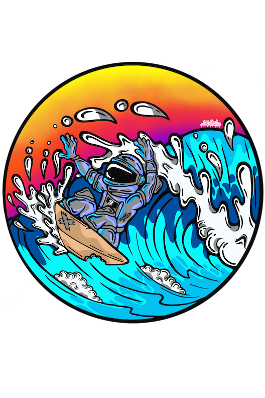 Wall Decals - Astro Surfer