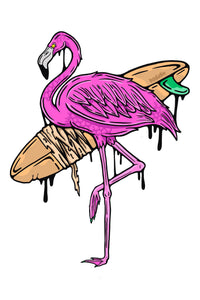 Wall Art Decal: Funky Flamingo
