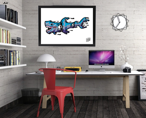 Gerry the Great White Shark - art print (LIMITED STOCK!)