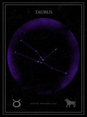 Taurus Zodiac Sign Star Print