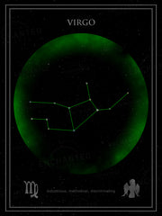 Virgo Zodiac Sign Star Print