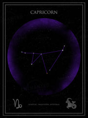 Capricorn Zodiac Sign Star Print