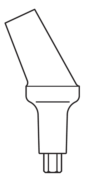 Basic Pre-Inclined Abutment, Yellow 3.0