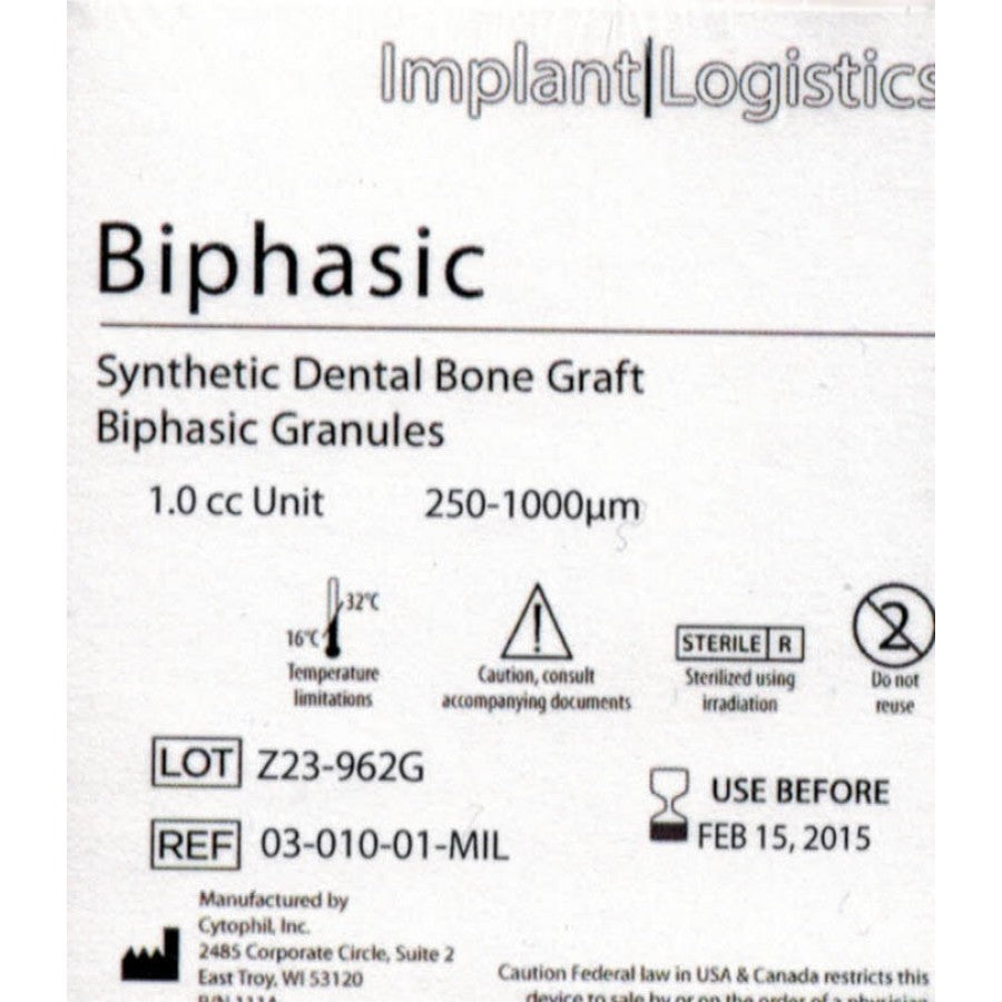 Dental Biphasic 250-1000um