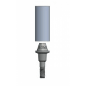 MUA (Transmucosal) Abutment Straight Emergence with burn out sleeve - Fits IT 100 series implants